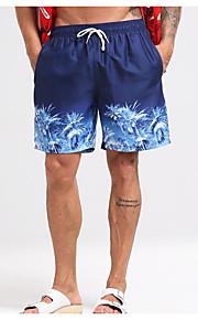 男性用 EU / USサイズ ブルー スイミングトランクス ボトムス スイムウェア - 幾何学模様 L XL XXL ブルー