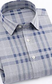 メンズプラスサイズシャツ - 幾何学的な古典的な襟