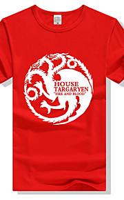 Hombre Camiseta Gráfico Rojo XL