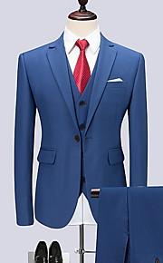 Hombre trajes Solapa de Pico Poliéster Morado / Wine / Azul Real XXXXL / XXXXXL / XXXXXXL