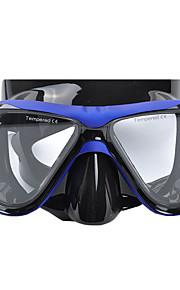 YON SUB Potápěčské masky Pod vodou Proti zamlžování Voděodolné Dva-Window - Plavání Potápění Vodní sporty Silikon - pro Dospělí Žlutá Červená Modrá