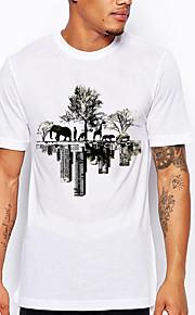Hombre Camiseta Gráfico Blanco XXL