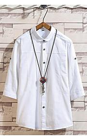 Ανδρικά T-shirt Μονόχρωμο Βαθυγάλαζο XXXL