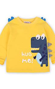 Děti / Toddler Chlapecké Aktivní / Základní Jednobarevné / Tisk Tisk Dlouhý rukáv Bavlna / Spandex Košilky Žlutá