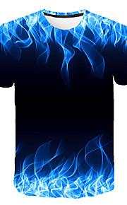 Miesten Painettu Color Block T-paita