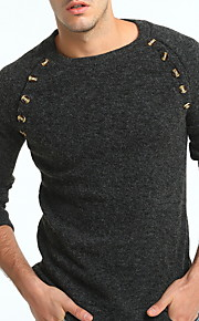 Муж. Пуловер Оранжевый / Темно-серый XL / XXL / XXXL