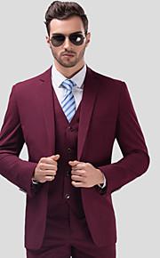 Hombre trajes Solapa de Muesca Poliéster Negro / Rojo / Azul Marino XXXXL / XXXXXL / XXXXXXL