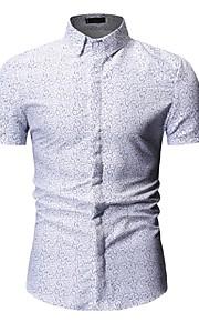 Муж. Рубашка Геометрический принт Белый XL