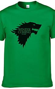 Herrn Tier T-shirt Leicht Blau L