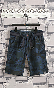 Hombre Deportivo Chinos / Shorts Pantalones - Estampado Gris Oscuro