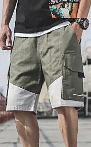 Hombre Básico / Militar Chinos / Shorts Pantalones - Estampado Negro