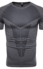 T-skjorte Herre - Geometrisk, Trykt mønster Mørkegrå XL