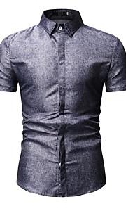 camisa de hombre - cuello de la camisa de color sólido