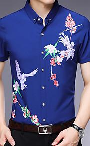 Skjorte Herre - Geometrisk Blå XL