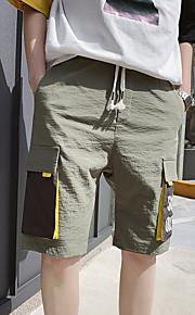 Hombre Básico / Militar Chinos / Shorts Pantalones - Estampado / Multicolor Negro