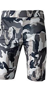 Hombre Militar Shorts Pantalones - Estampado Gris Oscuro