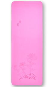 Podložka na jógu Ultra Slim, Elastický, Lepkavý, Skládací TPE Pro Růžová