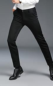 Ανδρικά Βασικό Παντελόνι επίσημο Παντελόνι - Μονόχρωμο Μαύρο