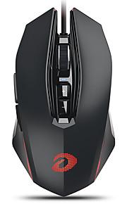 dareu em925pro 유선 usb 광학 게임 마우스 멀티 컬러 백라이트 600/1200/2400/3600/5400/7200/10800 dpi 7 개의 조정 가능한 dpi 레벨 7 개 키