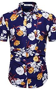 Муж. С принтом Рубашка Геометрический принт Темно синий XL