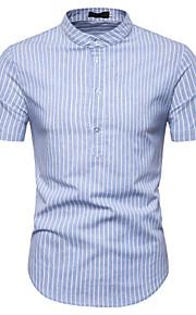 Муж. Рубашка Полоски Темно-серый L