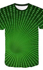 Hombre Camiseta Geométrico Verde Trébol XXXXL