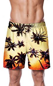 Herre Sporty / Basale Chinos / Shorts Bukser - Multi Farve / Tropisk Gul