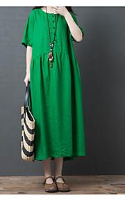 11aa670db6 30 damska midi luźna sukienka swingowa lniana bawełna czerwona czarna  zielona m l xl xxl
