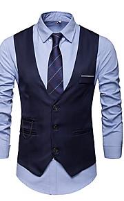 Herrn Weste, Solide V-Ausschnitt Polyester Marineblau / Grau / Wein XXXL / XXXXL / XXXXXL