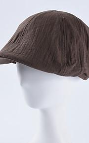 Unisex Aktivní Základní Cute Style Baret-Jednobarevné Barevné bloky Bavlna Celý rok Béžová Žlutá Khaki