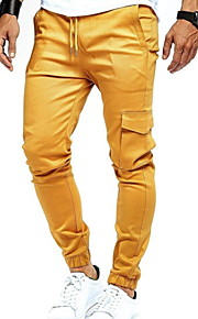 Hombre Básico Chinos Pantalones - Un Color Gris