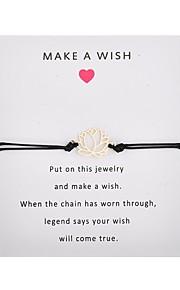 Naisten Yksinauhainen Käsintehty Link Rannekoru Flower muodikas Rannekorut Korut Pinkki / Vaalean sininen / Burgundi Käyttötarkoitus Party Päivittäin