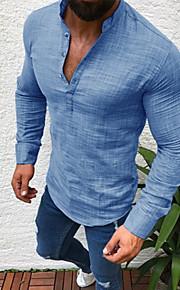 Skjorte Herre - Ensfarget Svart XXXL