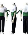 Inspirerad av One Piece Roronoa Zoro Animé Cosplay-kostymer cosplay Suits Lappverk Kortärmad Byxor Armbindel Skärp T-shirt Till Man