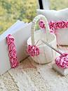 colectare nunta de lux situat într-satin cu trandafiri roz (4 bucăți)