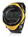 Bărbați Ceas Sport Ceas La Modă Ceas de Mână Energie solară Rezistent la Apă Solar LED Cauciuc Bandă Casual Cool Negru Yellow