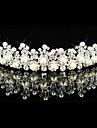 aliaj de superba cu pietre Austria / imitație perla de mireasă tiara