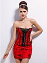 acrilic cu broderie fara bretele de închidere Busk fata corsete ocazie specială shapewear