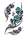 #(5) Mönster Vattentät Blomserier Tatueringsklistermärken