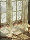 Tringle oeillets Onglet supérieur Plis double Deux Panneaux Le traitement de fenêtre Européen Salle de séjour 100% polyester/faux lin