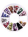 240 Nail Art Strass glitter spetsen mix pärla ratten