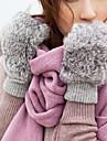 blană de iepure degetele mănuși de iarnă