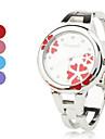 pentru Doamne Ceas La Modă Ceas Brățară Quartz Bandă Flori Brățară rigidă Argint Mov Rosu Albastru Roz