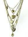 bronz tentă stratificat inima medalioane colier