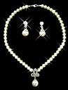 """Set de bijuterii din fildeș perle clasice doamnelor de proiectare """"(38 cm)"""