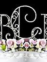 Vârfuri de Tort Cuplu Clasic / Monogramă Petrecerea Bridal Shower / Quinceañera & Dulcele 16 / Aniversare / Zi de Naștere / Nuntă Ștras