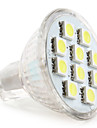 1W 50-80 lm GU4(MR11) Spoturi LED MR11 10 led-uri SMD 5050 Alb Natural DC 12V