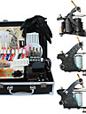 3 gjutjärn tatueringsmaskin kit med toppkvalitet LCD strömförsörjning