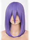 Perruques de Cosplay Naruto Akatsuki Konan Purple Manga Perruques de Cosplay 45 CM Fibre résistante à la chaleur Femme