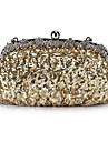 Satin fabuleux avec paillettes et cristaux soir sac à main / embrayages couleurs (Plus)